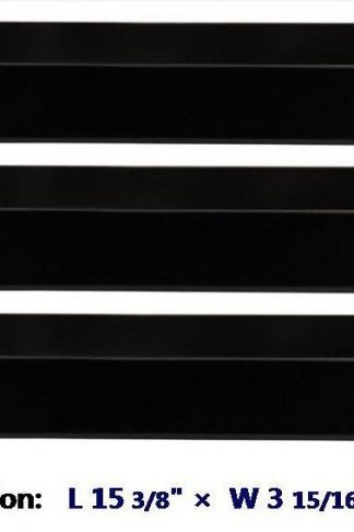 92311(3-pack) Porcelain Steel Heat Plate for Aussie, Brinkmann, Uniflame, Charmglow, Grill King, Lowes Model Grills
