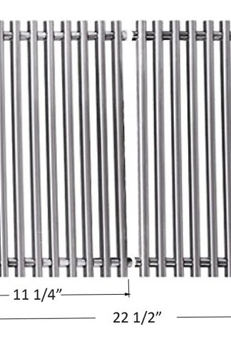 BBQ funland GS521 Aftermarket Stainless Steel Rod Cooking Grid/Cooking Grates Replacement for Weber 7521, Lowes Model Grills and Others, Set of 2