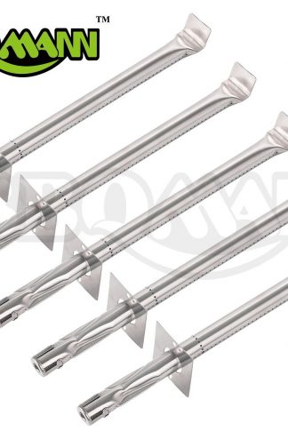 "BBQMANN BD001 (5-pack) Universal Stainless Steel Tube Burner Replacement for Jenn Air, Vermont Castings Model Grills(17""x1"")"