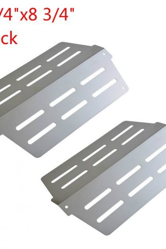 GASPRO GP-S622(2 Pack) Stainless Steel Heat Deflectors and BBQ Grill Heat Plate/Tent Replacement for Weber Genesis 300 Series Grill (13 1/4 x 8 3/4 inch)