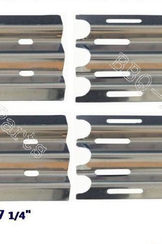 Hongso SPZ081 (4-pack) Stainless Steel Heat Plate, Heat Shield, Heat Tent, Burner Cover, Vaporizor Bar, and Flavorizer Bar Replacement for Jenn-Air, Vermont Castings Gas Grill Models, VCHP1 (14 1/2