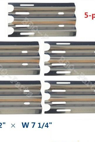Hongso SPZ081 (5-pack) Stainless Steel Heat Plate, Heat Shield, Heat Tent, Burner Cover, Vaporizor Bar and Flavorizer Bar Replacement for Select Jenn-Air and Vermont Castings Gas Grill Models (14 1/2
