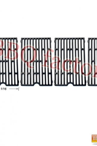 bbq factory Replacement Cast Iron Cooking Grid Porcelain coated (4-pack) for Select Gas Grill Models By Chargriller,Jenn-air, Vermont Castings Gas Grill and Others