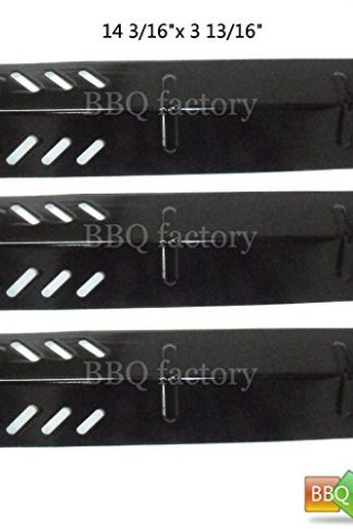 bbq factory® Replacement Porcelain Steel BBQ Gas Grill Heat Plate / Heat Shield JPX581 (3-pack) Select Gas Grill Models By Uniflame GBC1030W, GBC1030WRS, GBC1030WRS-C, GBC1134W, GBC1134WRS Gas Grill , and Others