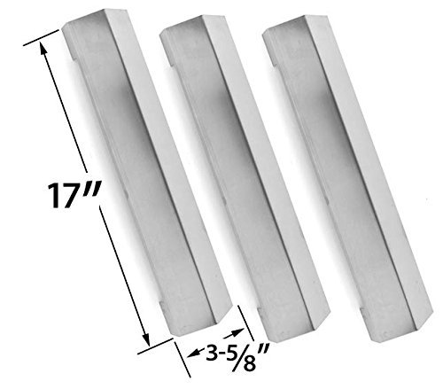3 Pack Tera Gear SRGG41122 Gas Model Replacement Stainless Steel Heat Shield
