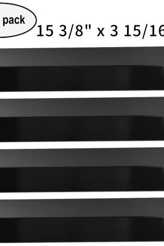 "4-pack BBQ Gas Grill Porcelain Steel Heat Plate, Heat Shield for Grill King, Aussie, Charmglow, Brinkmann, Uniflame, Lowes Model Grills (15 3/83 15/16"")"