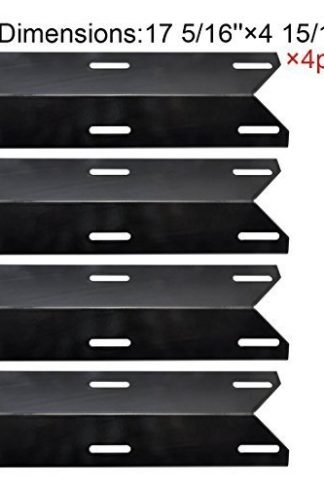 (4-pack) Charmglow Permasteel Gas Grill Heat Plate Porcelain Steel Heat Shield