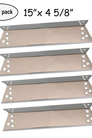 "4-pack Stainless Steel Heat Plates for Charbroil 463411911, 464424312, C-45G4CB, Kenmore Sears, K-Mart, Nexgrill, Tera Gear Model Grills (15"" x 4 5/8"")"
