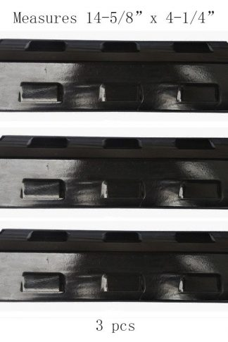 98531(3-pack) Porcelain Steel Heat Plate Replacement for Select Gas Grill Models By Charbroil, Kenmore, Grill King and Others