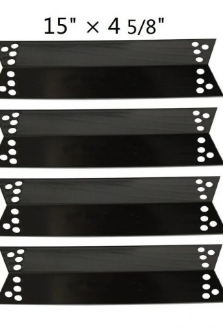 BBQ Energy Heat Shield PPZ681 (4-pack) Porcelain Steel Heat Plate Replacement for Charbroil 463411911, 464424312, 463411712,C-45G4CB, Kenmore Sears, K-Mart, Nexgrill, Tera Gear Model Grills