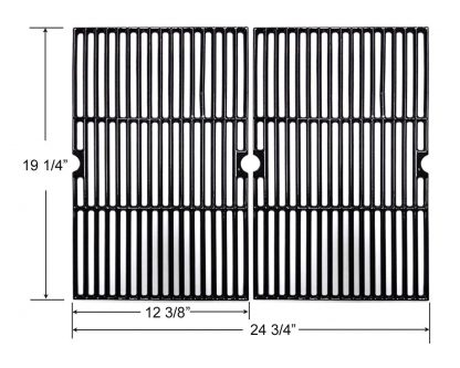 BBQ Future CG101 Universal Gas Grill Grate Cast Iron Cooking Grid Replacement, Sold As a Set of 2