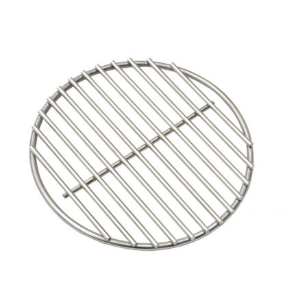BBQ High Heat Stainless Steel Charcoal Fire Grate Fits For Large Big Green Egg Fire Grate and Kamado Joe Grill Parts Charcoal Grate Replacement Accessories(9'')