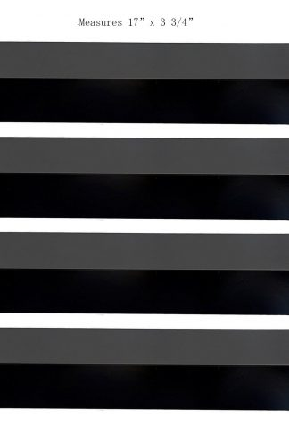 BBQ Mart PP3941(4-pack) Porcelain Steel Heat Plate Replacement for Select Charbroil and Presidents Choice Gas Grill Models