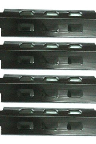 "BBQ Replacement Porcelain Steel Heat Plate (4-pack) For Charbroil Grill Models (Dims: 14 5/8"" X 4 1/4"")"