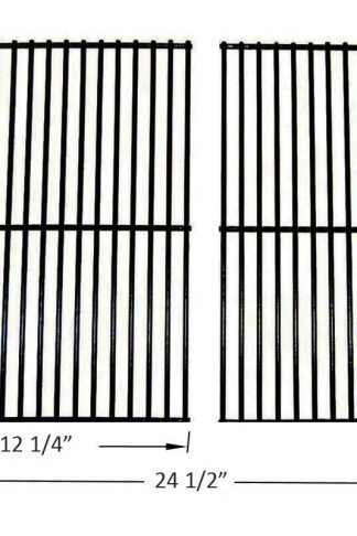 BBQ funland GP2932 Porcelain Steel Cooking Grid Replacement for Centro, Charbroil, Front Avenue, Kirkland, Fiesta, Kenmore, Kmart, Master Chef, and Thermos Gas Grill , Set of 2