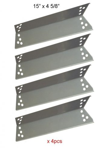 BBQ funland SH0681(4-pack) Stainless Steel Heat Shield, Heat Shield, Heat Tent, Burner Cover, Vaporizor Bar for Charbroil, Nexgrill, K-Mart, Kenmore Sears, Tera Gear Model Grills