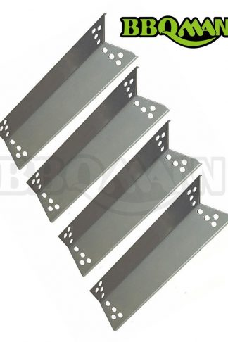 BBQMANN JA681 (4-pack) Stainless Steel Heat Plates/Heat Shield/Heat Tent for Charbroil, Kenmore Sears, K-Mart,Nexgrill, Tera Gear Model Grills