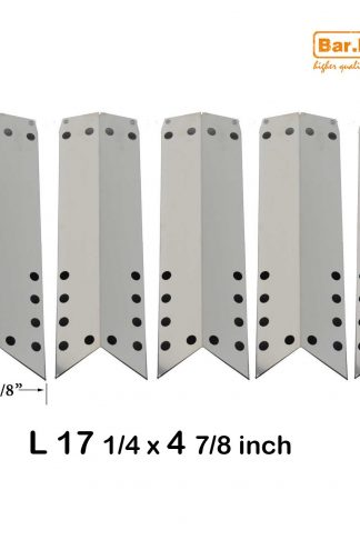 Bar.b.q.s 93051 (5-pack) Stainless Steel Heat Plate, Heat Shield, Heat Tent, Burner Cover, Vaporizor Bar, and Flavorizer Bar Replacement for Select Gas Grill Models by Kenmore, Kmart and Others