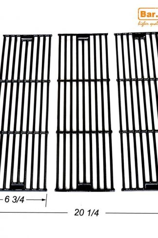 Bar.b.q.s CI65051 Universal Gas Grill Grate Matte Cast Iron Cooking Grid Replacement for Chargriller gas grill models 2121, 2123, 2222, 2828, 3001, 3030, 3725, 4000, 5050, 5252 , Sold as a set of 3