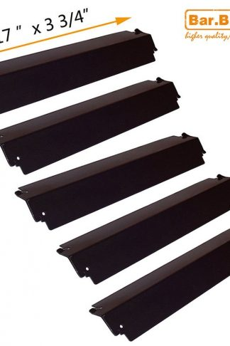 Bar.b.q.s Replacement Porcelain Steel Gas Grill Heat Plate 93941(5-pack) for Charmglow, Permasteel, Uniflame, Charbroil Model Grills and Others