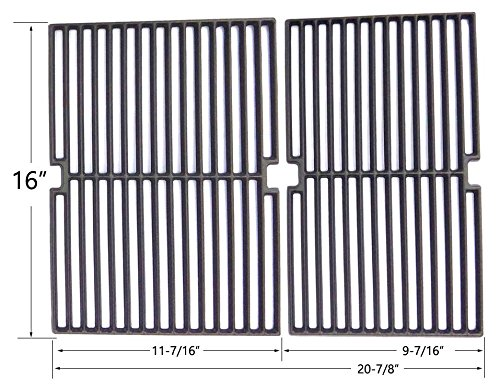 Cast Iron Cooking Grid For SSS3416TB, SSS3416TC, BBQTEK, Presidents Choice SSS3416TCS Gas Models, Set of 2