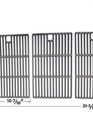 Cast Iron Cooking Grid for BroilChef GSC3218WA, BBQTEK GSC3218WB, Bond GSC3218WA, Kenmore 148.1637110 and Master Chef L3218 Gas Grill Models, Set of 3
