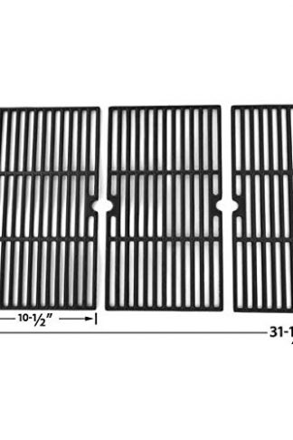 Cast Iron Cooking Grid for Charbroil 463252205, Master Forge B10LG25, Members Mark 720-0709B, Regal 04ALP and Nexgrill 720-0709, 720-0709B, 720-0709C Gas Grill Models, Set of 3