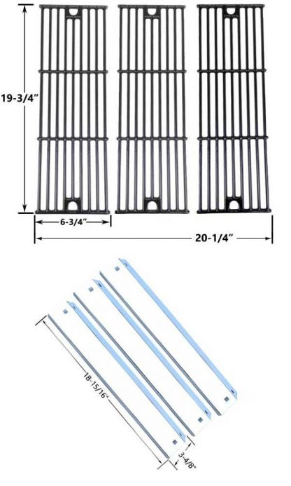 Chargriller 3001, 3008, 3030, 4000, 5050, 5252 Replacement Heat Shield & Cooking Grid Kit