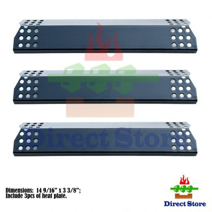 Direct store Parts DP129 (3-pack) Porcelain Steel Heat Shield / Heat Plates Replacement Sunbeam, Nexgrill, Grill Master, Charbroil , Kenmore, Kitchen Aid, Members Mark, Uberhaus, Gas Grill Models (3)