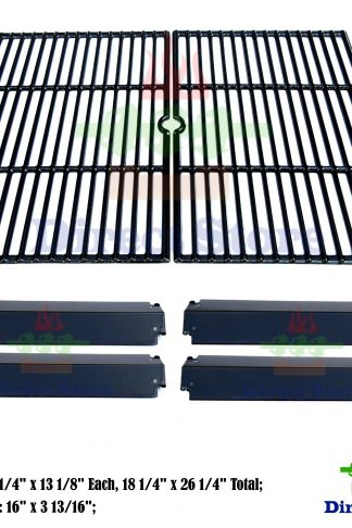 Direct store Parts Kit DG232 Replacement Charbroil, Kenmore , Coleman,Gas Grill Repair Kit Heat Plates & Cooking Grill (Porcelain Steel Heat Plate + Porcelain Cast Iron Cooking Grid)