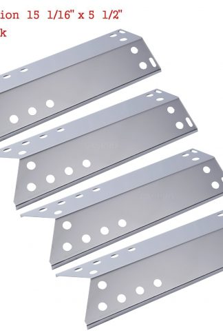 GASPRO GP-S781 Stainless Steal Grill Heat Plate/Shield Replacement for Kenmore Sears, Nexgrill and Grill Master (15 1/16 x 5 1/2inch) (4 pack)