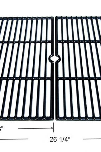 GI6652 Porcelain coated Cast Iron Cooking Grid Replacement for Select Gas Grill Models by Char-broil, Coleman , Kenmore, Thermos, Uniflame, Master and Others, Set of 2