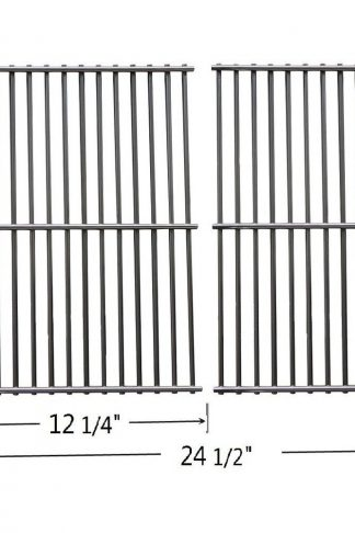 GS2932 Stainless Steel Cooking Grid Replacement for Centro, Charbroil, Front Avenue, Kirkland, Fiesta, Kenmore, Kmart, Master Chef, and Thermos Gas Grill , Set of 2