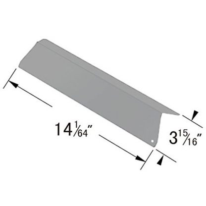 GSF3016A - Stainless Steel Heat Plate for BBQTEK, Bond, Kirkland, Nexgrill, Perfect Flame, Presidents Choice, River Grille, Royal Oak and Tera Gear
