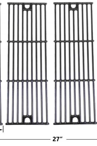 Gloss Cast Iron Cooking Grid for King Griller 3008, 5252 and Char-Griller 2121, 2123, 2222, 2828, 3001, 3030, 3725, 4000, 5050, 5252, 3008 Gas Grill Models, Set of 4