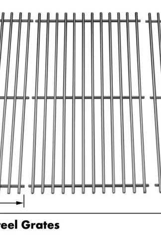 Heavy Duty Stainless Cooking Grid for BBQTEK, Charbroil 463241904, 463247404, 463247504, 463251705, 463252205, 463254205, 463260807 & Centro 5000RT, G60104, G60105 Gas Models, Set of 3