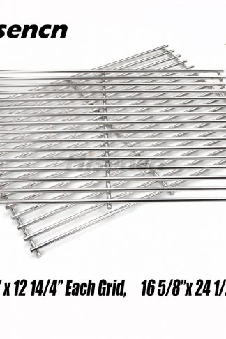 Hisencn Replacement 52932(set of 2) Stainless Stell Cooking Grid for Centro, Charbroil, Front Avenue, Fiesta, Kenmore, Kirkland, Kmart, Master Chef and Thermos Gas Grill