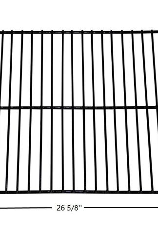Hongso PCW001 Porcelain Steel Wire Cooking Grid Replacement for Charbroil, Kenmore, Thermos Gas Grill Models (26 5/8'' x 14 23/32'')
