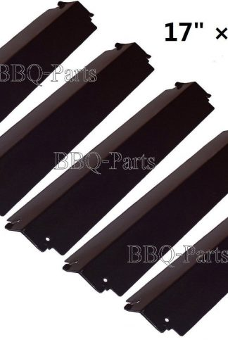"Hongso PPC941 (5-pack) Porcelain Steel Heat Plate, Heat Shield, Heat Tent, Burner Cover, Vaporizor Bar, and Flavorizer Bar Replacement for Charbroil, Presidents Choice Gas Grills, CBHP3 (17"" x 3 3/4"