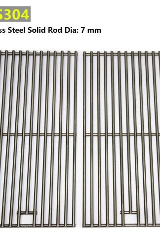 Hongso SC1702 (2-pack) BBQ Solid Stainless Steel Wire Cooking Grid, Cooking Grate Replacement for 2 burner Char-Broil 463645015, 466645015, 466645115 and Others.