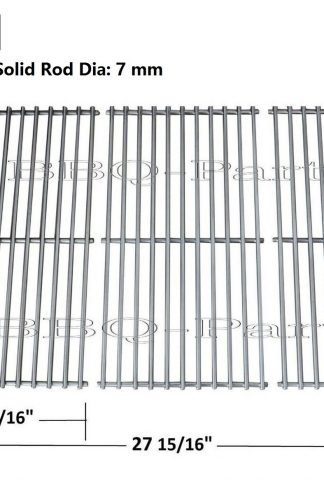 Hongso SCH763 Stainless Steel Wire Cooking Grid Replacement for Select Gas Grill Models by Charbroil, Kenmore and Others, Set of 3