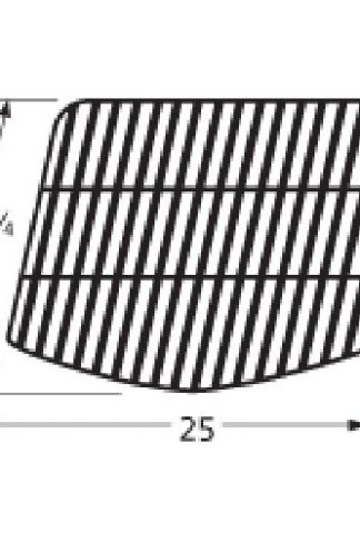 Music City Metals 59211 Porcelain Steel Bar Cooking Grid Replacement for Gas Grill Model Uniflame GBC920W1