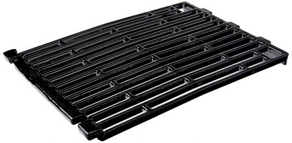 Music City Metals 61102 Gloss Cast Iron Cooking Grid Replacement for Select Gas Grill Models by Amberlight, Arkla and Others, Set of 2