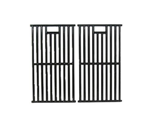 Music City Metals 67252 Gloss Cast Iron Cooking Grid Replacement for Gas Grill Model Kenmore 148.16656010, Set of 2