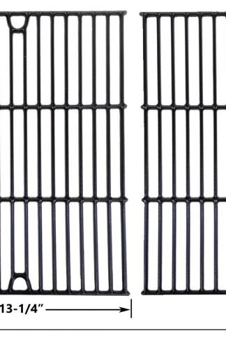 Nexgrill 720-0719BL, 720-0773, Charbroil 463411512, 463411712, 463411911, C-45G4CB Porcelain Cast Iron Cooking Grid, Set of 2