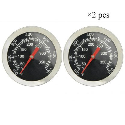 "Onlyfire Professional BBQ Charcoal Smoker Gas Grill Char-Grillers Dia 2"" Thermometer (2-pack) Temperature Gauge"
