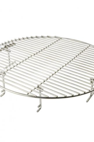 Onlyfire Stainless Steel Round Cooking Grate Grid Fits for Charcoal Kettle Grills and Ceramic Grills like Weber Char-Broil Landmann Masterbuilt Large Big Green Egg and Kamado Joe, 17 1/2 Inch