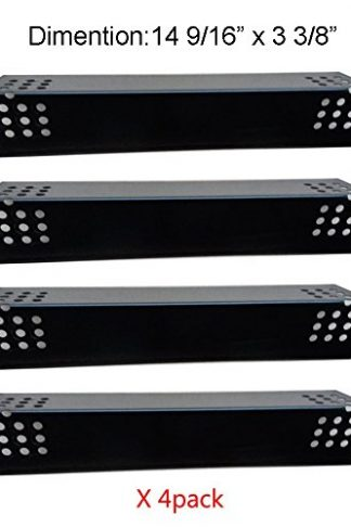 "PH7371 (4-pack) Porcelain Steel Heat Plate Replacement for Grill Master 720-0697, 720-0737 and Uberhaus 780-0003 Gas Grill Models (14 9/16"" x 3 3/8"")"