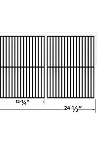 PORCELAIN STEEL COOKING GRID FOR CENTRO, CHARBROIL, FRONT AVENUE, FIESTA, KENMORE, KIRKLAND, KMART, MASTER CHEF, AND THERMOS GAS GRILL MODELS (SOLD AS A SET OF 2)
