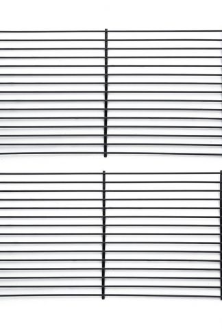 Pitmasters Supply Coated Steel BBQ Grill 52932 Griddle Cooking Grid Replacement Centro, Char-broil, Front Avenue, Fiesta, Kenmore, Kirkland, Kmart, Master Chef [Set of 2] - 16.5""
